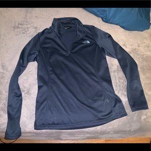 North face quarter zip fleece jacket